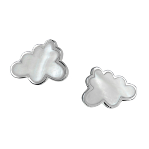Thundercloud Earrings in Silver