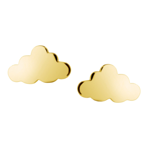 Cloud Earrings in Gold