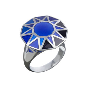 Sapphire Copy-Cat Ring in Silver