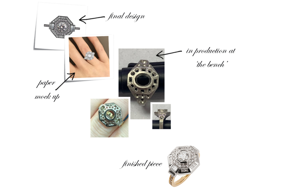 bespoke diamond engagement ring design process