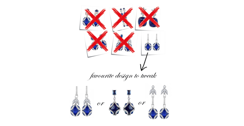 bespoke sapphire and diamond earring options