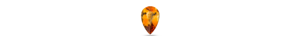 Pear shape Citrine gem stone