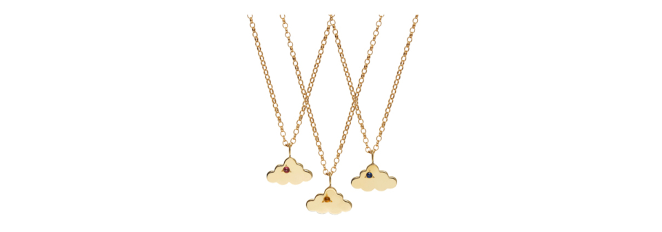 bespoke gold cloud charm necklaces