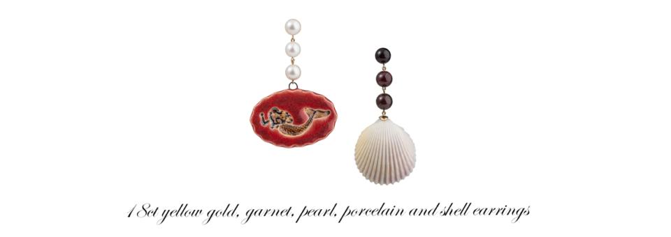 bespoke mermaid and seashell earrings