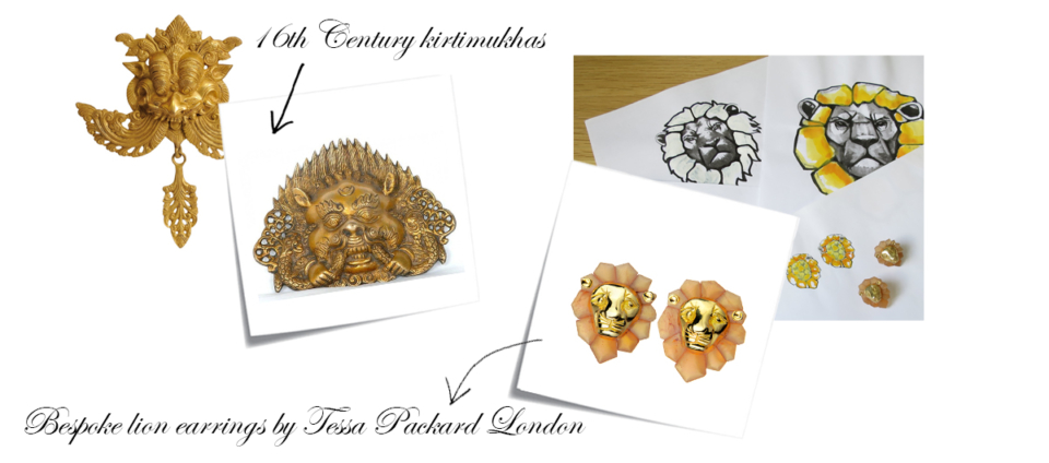 bespoke lion head earrings