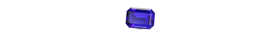 Emerald cut Tanzanite