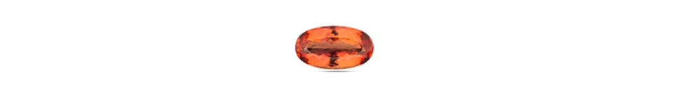 Oval cut Topaz gem stone