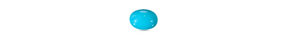 Oval cut turquoise gem stone