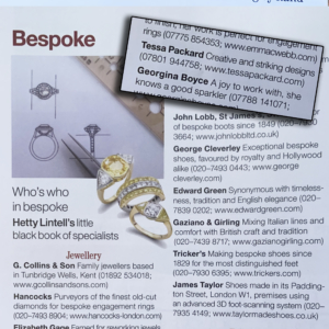 Tessa Packard London in Country Life Magazine