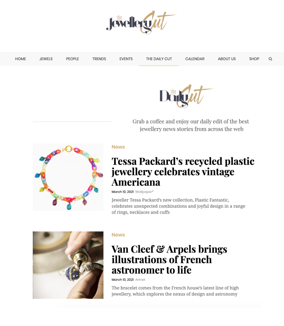 Tessa Packard London Plastic Fantastic Jewellery Line featured on the Jewellery Cut