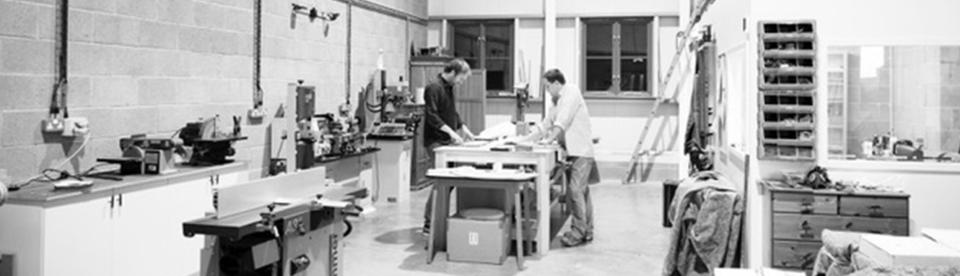 Hugo Boys working in his workshop