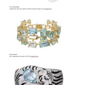 Aquamarine bracelet in Tatler Magazine