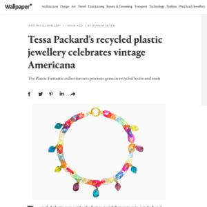 Tessa Packard Plastic Jewellery collection on Wallpaper Online