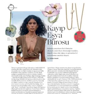 Tessa Packard London's deer gemstone earrings featured in Vogue Turkey Magazine