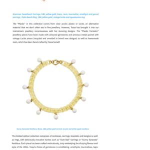 press featuring plastic fantastic jewellery by tessa packard