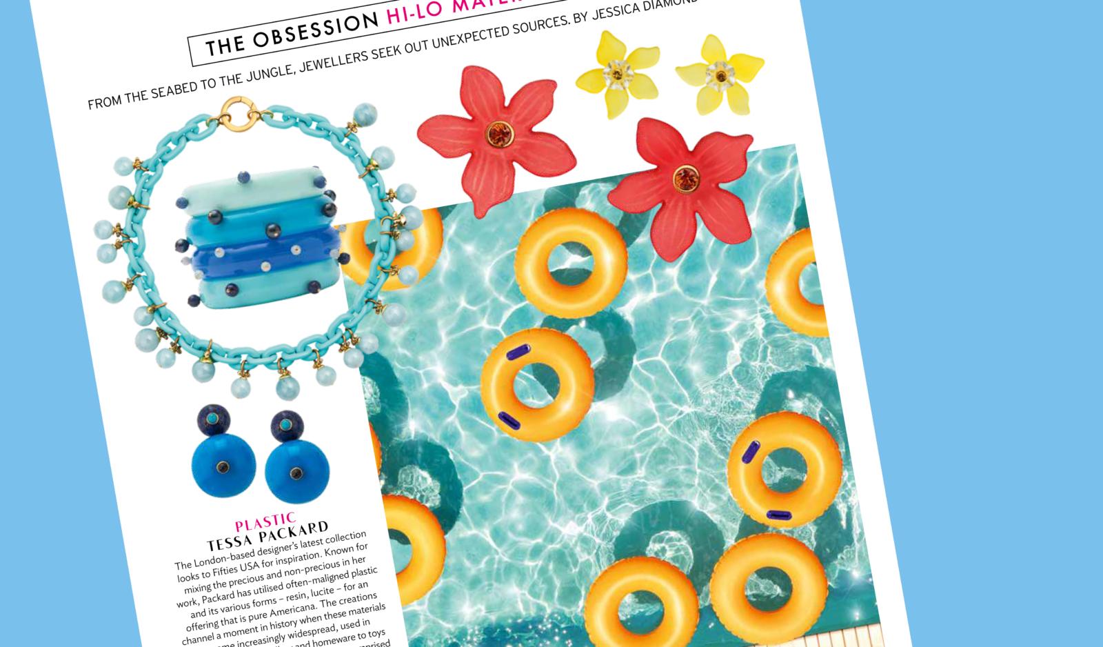 plastic fantastic jewellery in conde nast traveller magazine