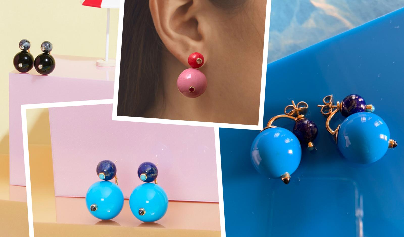 gumball earrings tessa packard plastic fantastic