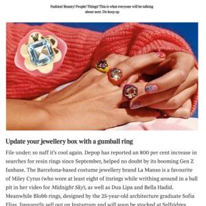 times newspaper tessa packard plastic fantastic jewellery