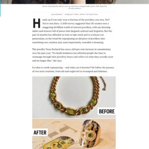 tessa packard bespoke jewellery in the times newspaper