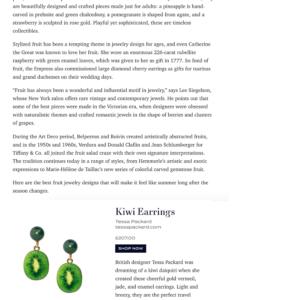 fruit fine jewellery kiwi earrings tessa packard