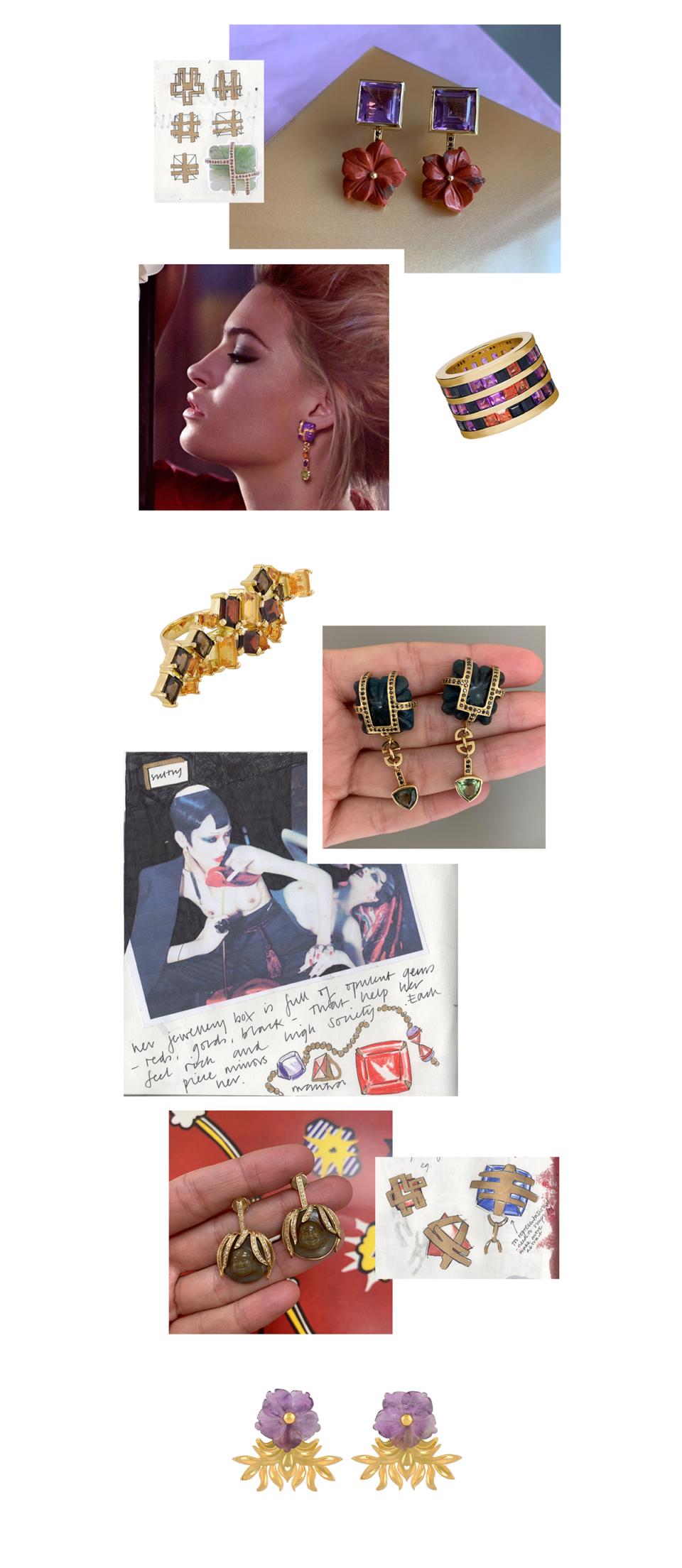 orient inspired gemstone fine jewellery by tessa packard