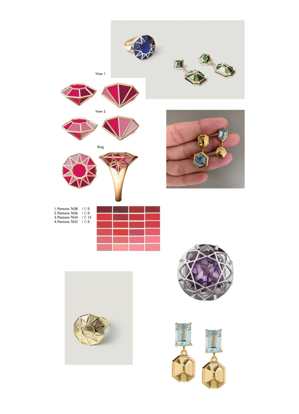 geometric giant gemstones jewellery
