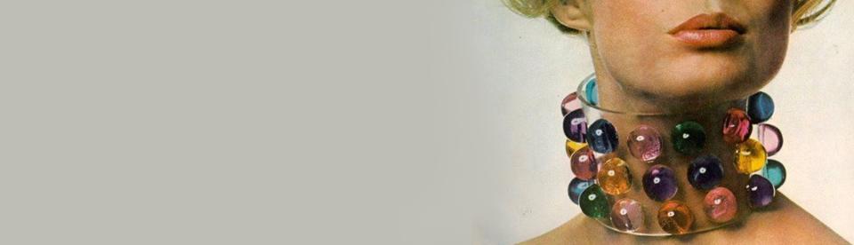 perspex lucite jewellery coloured collar choker