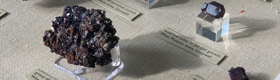 geodes and rocks at the natural history museum