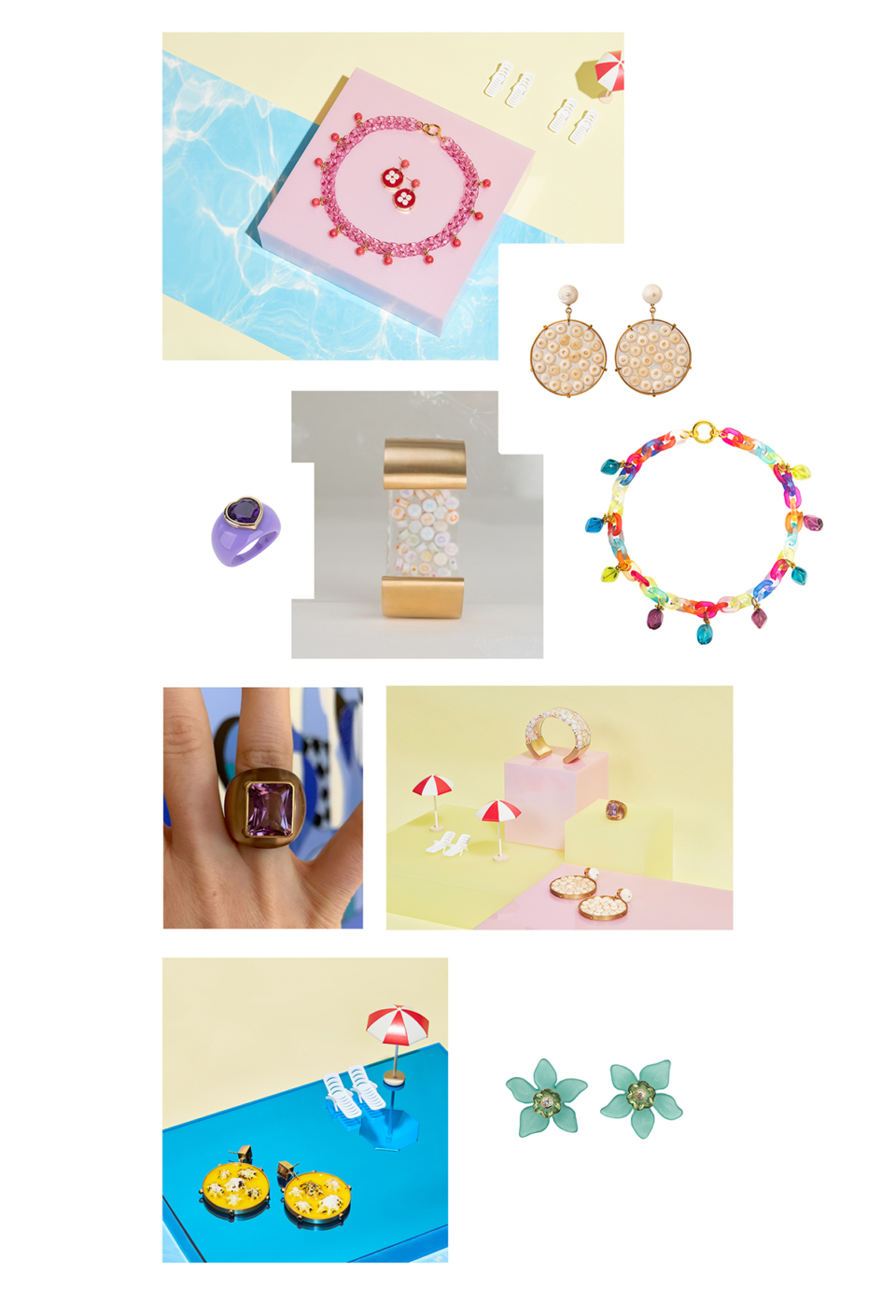 plastic fantastic lucite jewellery moodboard by tessa packard
